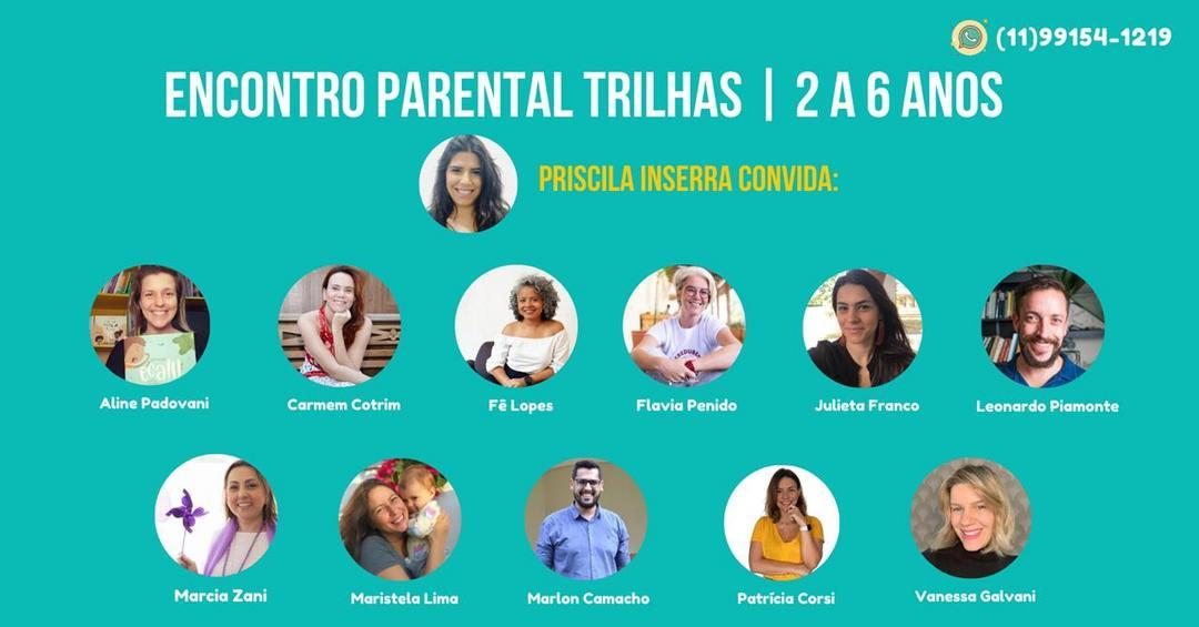 ENCONTRO PARENTAL TRILHAS de 02 a 06 ANOS
