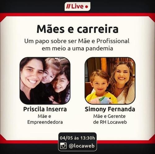 Live 04/05 e Roda 05/05 - Empreendedorismo materno